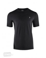 t-shirt fitness CZARNY