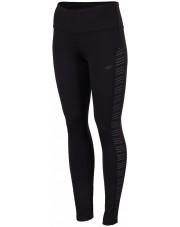 spodnie fitness CZARNY