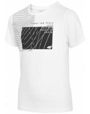 t-shirt chłopięcy 4F BIAŁY
