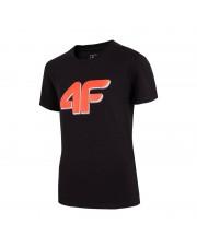 t-shirt chłopięcy 4F CZARNY